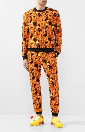 Мужской хлопковый свитшот BAPE оранжевого цвета, арт. 1G30113010 | Фото 2