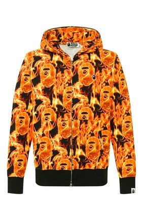 Мужская хлопковая толстовка BAPE оранжевого цвета, арт. 1G30115012 | Фото 1
