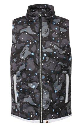 Мужской пуховый жилет BAPE черного цвета, арт. 1G30140005 | Фото 1