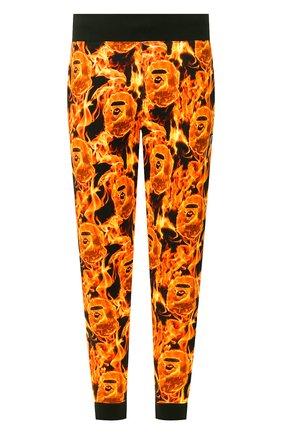 Мужской хлопковые джоггеры BAPE оранжевого цвета, арт. 1G30152013 | Фото 1