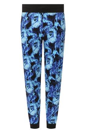 Мужской хлопковые джоггеры BAPE синего цвета, арт. 1G30152013 | Фото 1