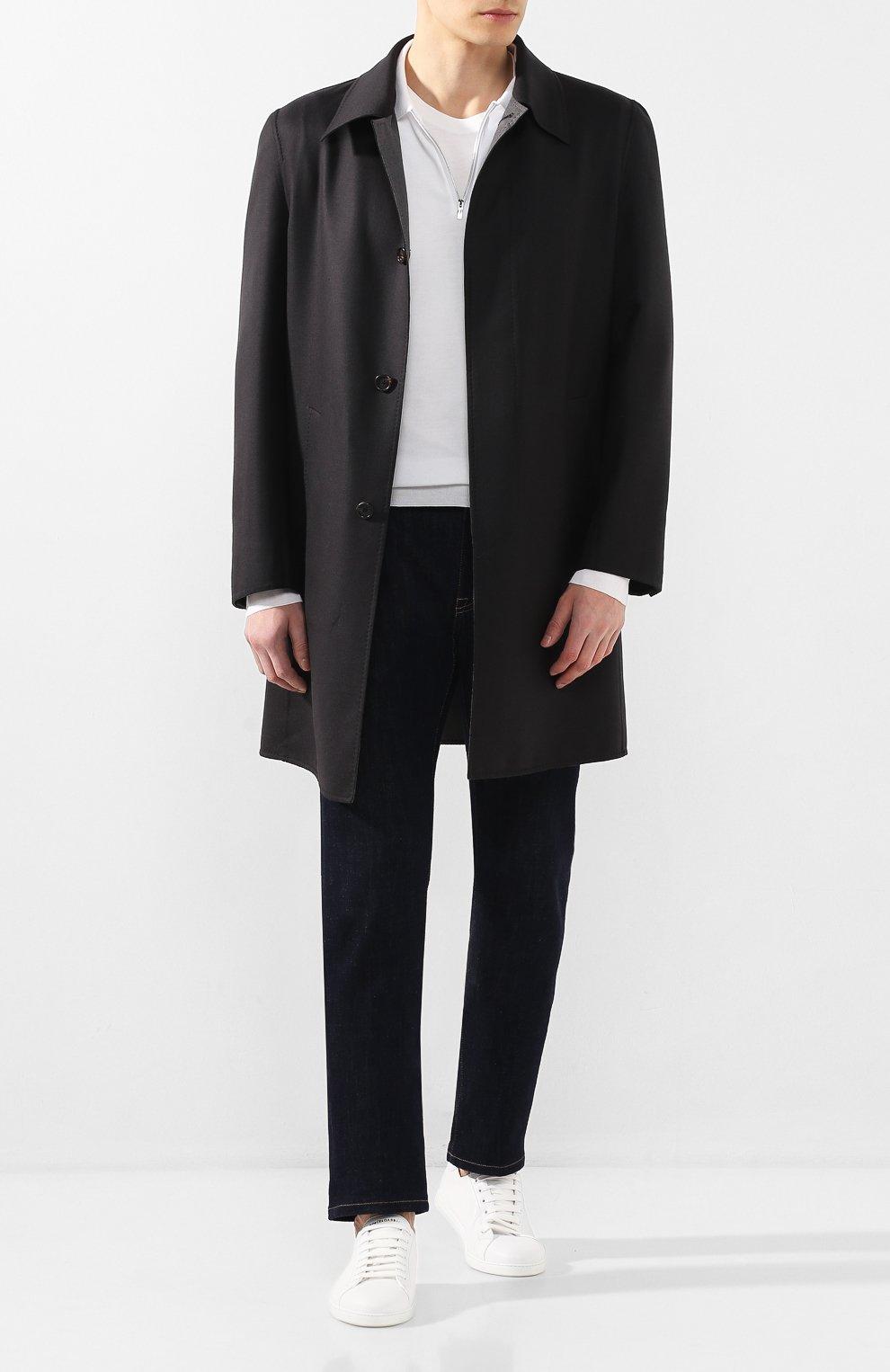 Мужской шерстяное пальто BRIONI темно-серого цвета, арт. S0PZ0L/06AX6 | Фото 2