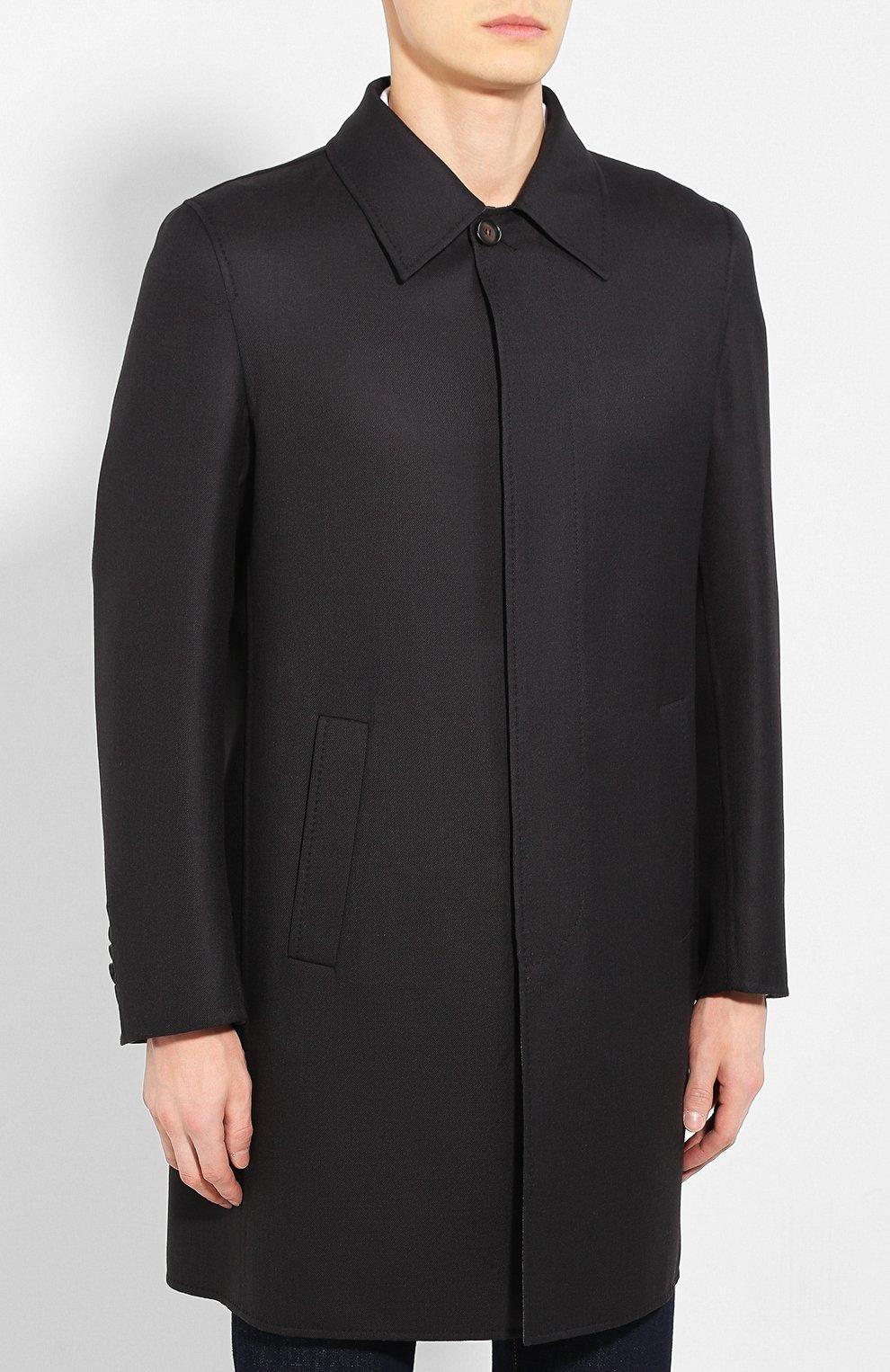 Мужской шерстяное пальто BRIONI темно-серого цвета, арт. S0PZ0L/06AX6 | Фото 3
