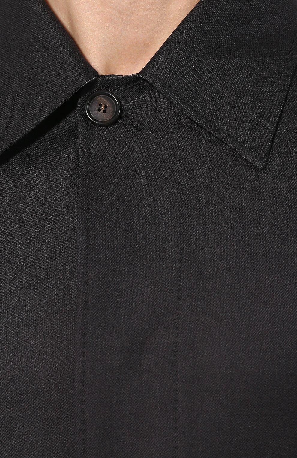 Мужской шерстяное пальто BRIONI темно-серого цвета, арт. S0PZ0L/06AX6 | Фото 5