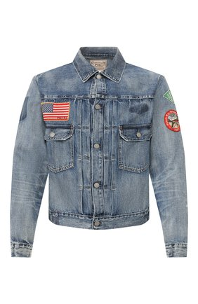 Мужская джинсовая куртка POLO RALPH LAUREN синего цвета, арт. 710786272 | Фото 1