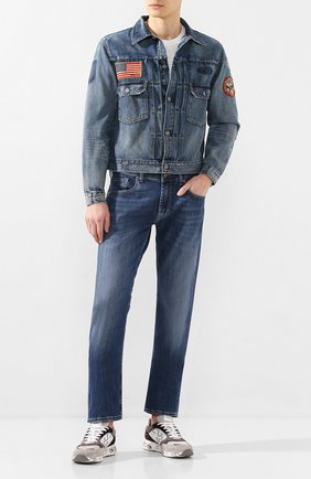 Мужская джинсовая куртка POLO RALPH LAUREN синего цвета, арт. 710786272 | Фото 2