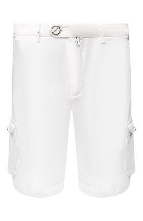 Мужские шорты из смеси льна и хлопка KITON белого цвета, арт. UFPPBJ07S41 | Фото 1