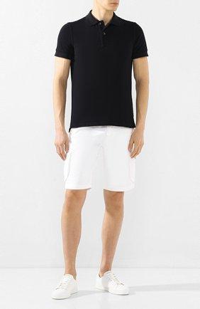 Мужские шорты из смеси льна и хлопка KITON белого цвета, арт. UFPPBJ07S41 | Фото 2