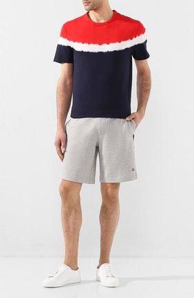 Мужская хлопковая футболка MONCLER разноцветного цвета, арт. F1-091-8C708-60-8390T | Фото 2