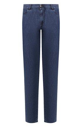 Мужские джинсы CANALI синего цвета, арт. 91700/PD00621 | Фото 1