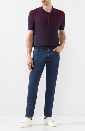 Мужские джинсы CANALI синего цвета, арт. 91700/PD00621 | Фото 2