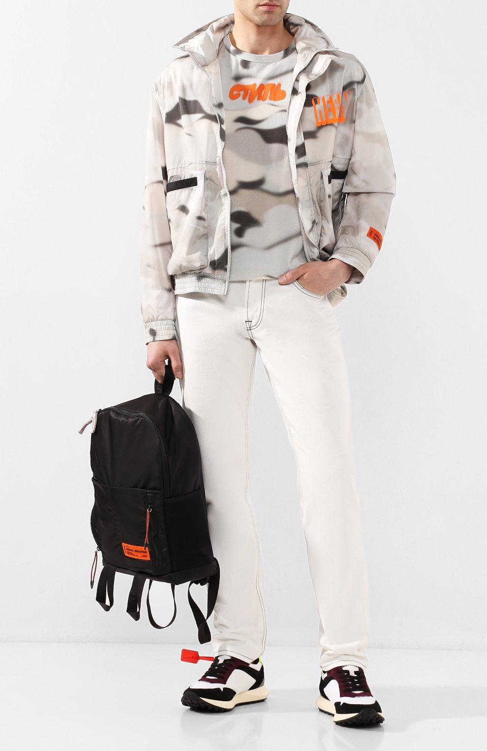Мужской бомбер HERON PRESTON серого цвета, арт. HMEA038S209100138819   Фото 2