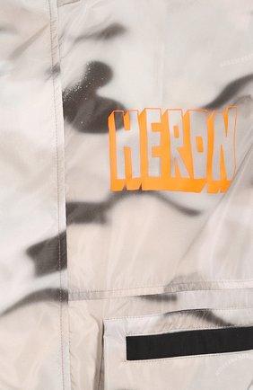 Мужской бомбер HERON PRESTON серого цвета, арт. HMEA038S209100138819   Фото 5