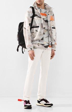 Мужская хлопковая футболка HERON PRESTON серого цвета, арт. HMAA011S209140088819 | Фото 2