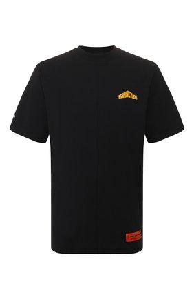Мужская хлопковая футболка HERON PRESTON черного цвета, арт. HMAA010S209140261060 | Фото 1