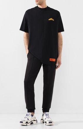 Мужская хлопковая футболка HERON PRESTON черного цвета, арт. HMAA010S209140261060 | Фото 2