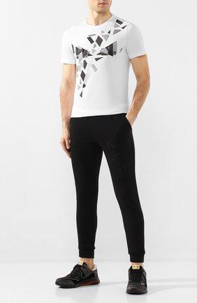 Мужская хлопковая футболка FENDI белого цвета, арт. FAF532 AAY5 | Фото 2