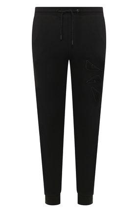 Мужской хлопковые джоггеры FENDI черного цвета, арт. FAB515 AAXV | Фото 1