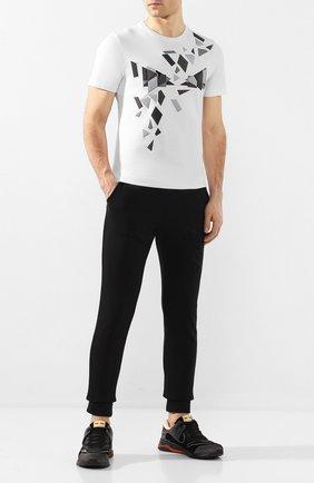 Мужской хлопковые джоггеры FENDI черного цвета, арт. FAB515 AAXV | Фото 2
