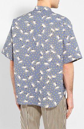 Мужская хлопковая рубашка DSQUARED2 синего цвета, арт. S71DM0401/S52802 | Фото 4