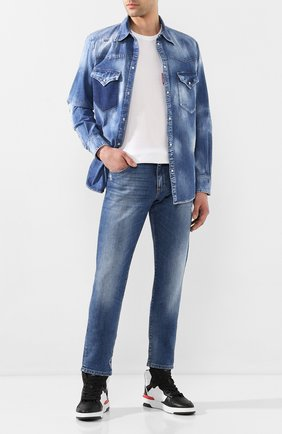 Мужская джинсовая рубашка DSQUARED2 синего цвета, арт. S71DM0402/S30341 | Фото 2