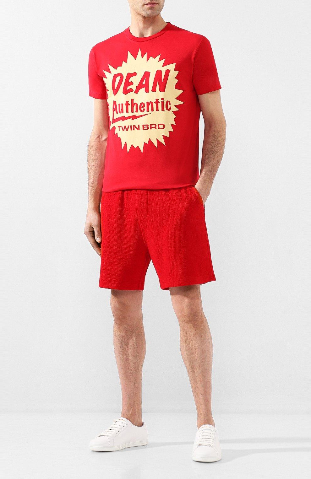 Мужская хлопковая футболка DSQUARED2 красного цвета, арт. S71GD0888/S22427 | Фото 2