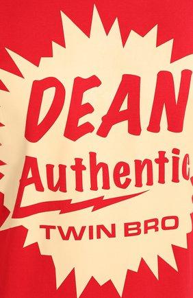Мужская хлопковая футболка DSQUARED2 красного цвета, арт. S71GD0888/S22427 | Фото 5
