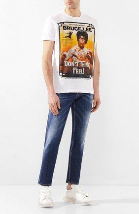 Мужская хлопковая футболка DSQUARED2 белого цвета, арт. S71GD0900/S22507 | Фото 2