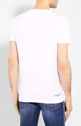 Мужская хлопковая футболка DSQUARED2 белого цвета, арт. S71GD0900/S22507 | Фото 4