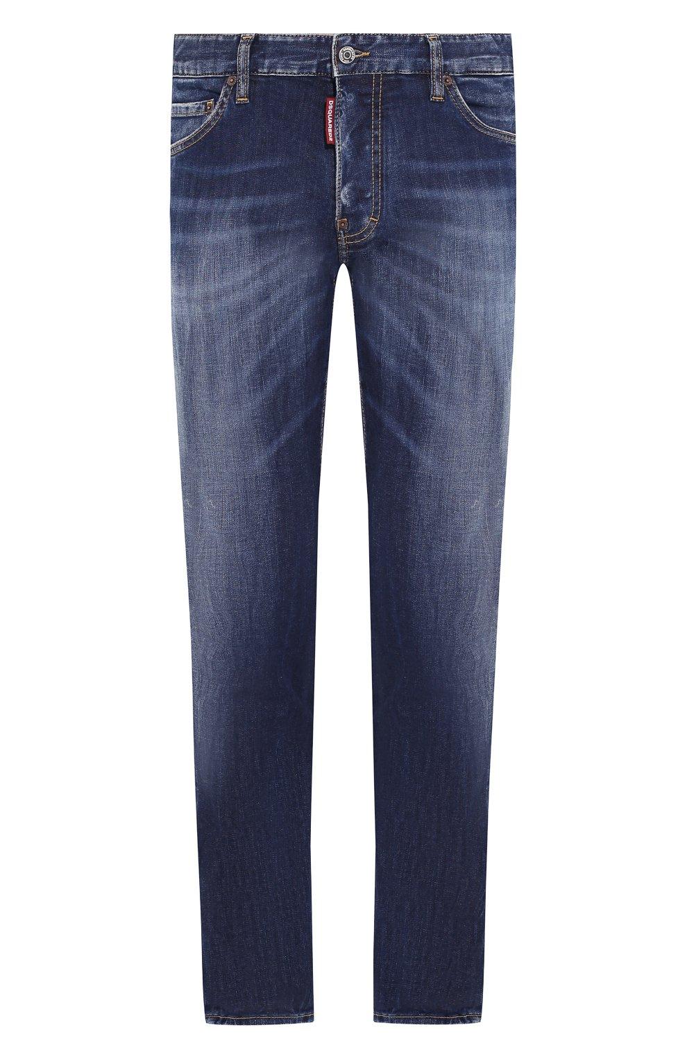 Мужские джинсы DSQUARED2 синего цвета, арт. S71LB0733/S30685 | Фото 1