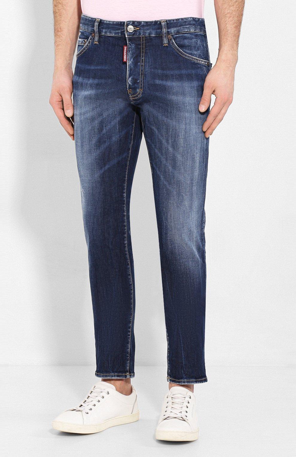 Мужские джинсы DSQUARED2 синего цвета, арт. S71LB0733/S30685 | Фото 3
