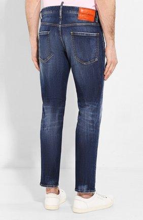 Мужские джинсы DSQUARED2 синего цвета, арт. S71LB0733/S30685 | Фото 4