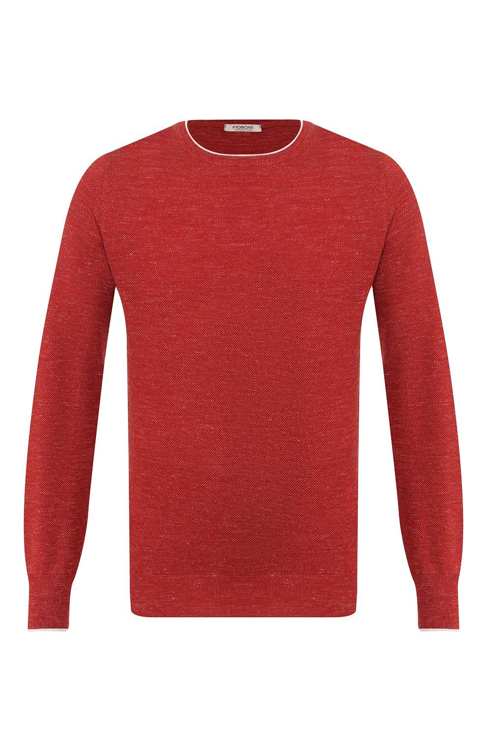 Мужской джемпер из смеси шерсти и шелка FIORONI бордового цвета, арт. MK20361A2   Фото 1
