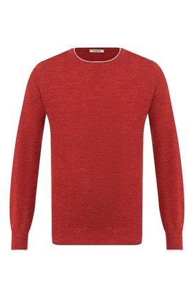 Мужской джемпер из смеси шерсти и шелка FIORONI бордового цвета, арт. MK20361A2 | Фото 1