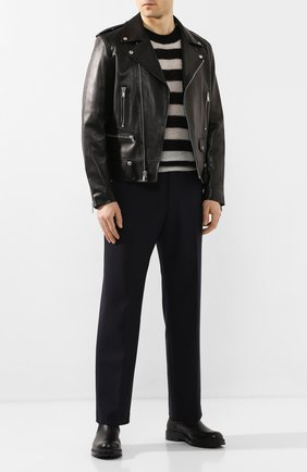 Мужской шерстяной свитер DRIES VAN NOTEN черно-белого цвета, арт. 201-21266-9704 | Фото 2