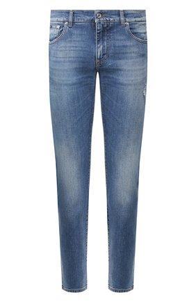 Мужские джинсы DOLCE & GABBANA синего цвета, арт. GY07CD/G8CI3   Фото 1