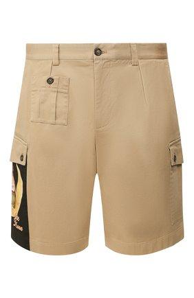 Мужские хлопковые шорты DOLCE & GABBANA бежевого цвета, арт. GYHDAT/FUFGA | Фото 1