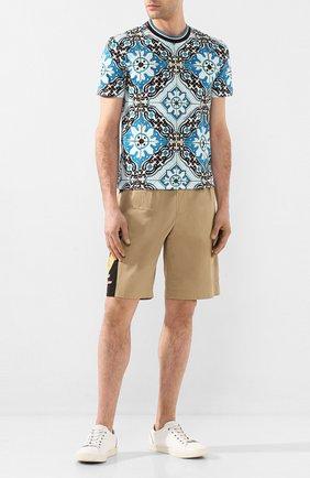 Мужские хлопковые шорты DOLCE & GABBANA бежевого цвета, арт. GYHDAT/FUFGA | Фото 2