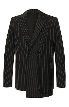 Мужской шерстяной пиджак ALEXANDER MCQUEEN черного цвета, арт. 594923/Q0U84 | Фото 1