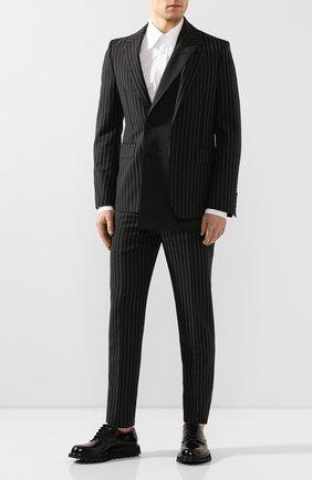 Мужской шерстяной пиджак ALEXANDER MCQUEEN черного цвета, арт. 594923/Q0U84 | Фото 2
