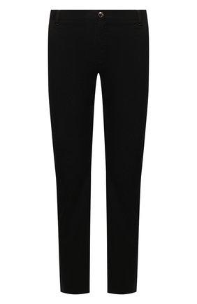 Мужской хлопковые брюки ZILLI черного цвета, арт. M0T-D0162-C0LU1/R001 | Фото 1
