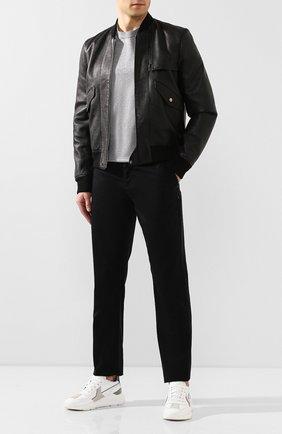 Мужской хлопковые брюки ZILLI черного цвета, арт. M0T-D0162-C0LU1/R001 | Фото 2