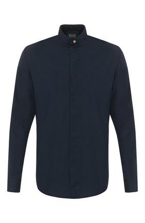 Мужская хлопковая рубашка GIORGIO ARMANI темно-синего цвета, арт. 0SGCCZ10/TZ567 | Фото 1