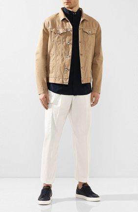 Мужская хлопковая рубашка GIORGIO ARMANI темно-синего цвета, арт. 0SGCCZ10/TZ567 | Фото 2