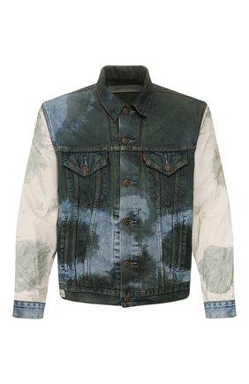 Мужская джинсовая куртка GIORGIO BRATO разноцветного цвета, арт. GBJ20S005TDCTIGER | Фото 1