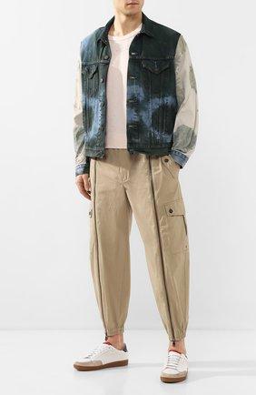 Мужская джинсовая куртка GIORGIO BRATO разноцветного цвета, арт. GBJ20S005TDCTIGER | Фото 2