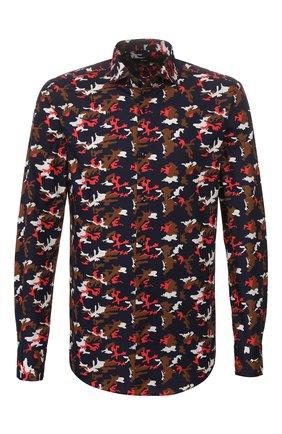 Мужская хлопковая рубашка BOSS разноцветного цвета, арт. 50428212 | Фото 1