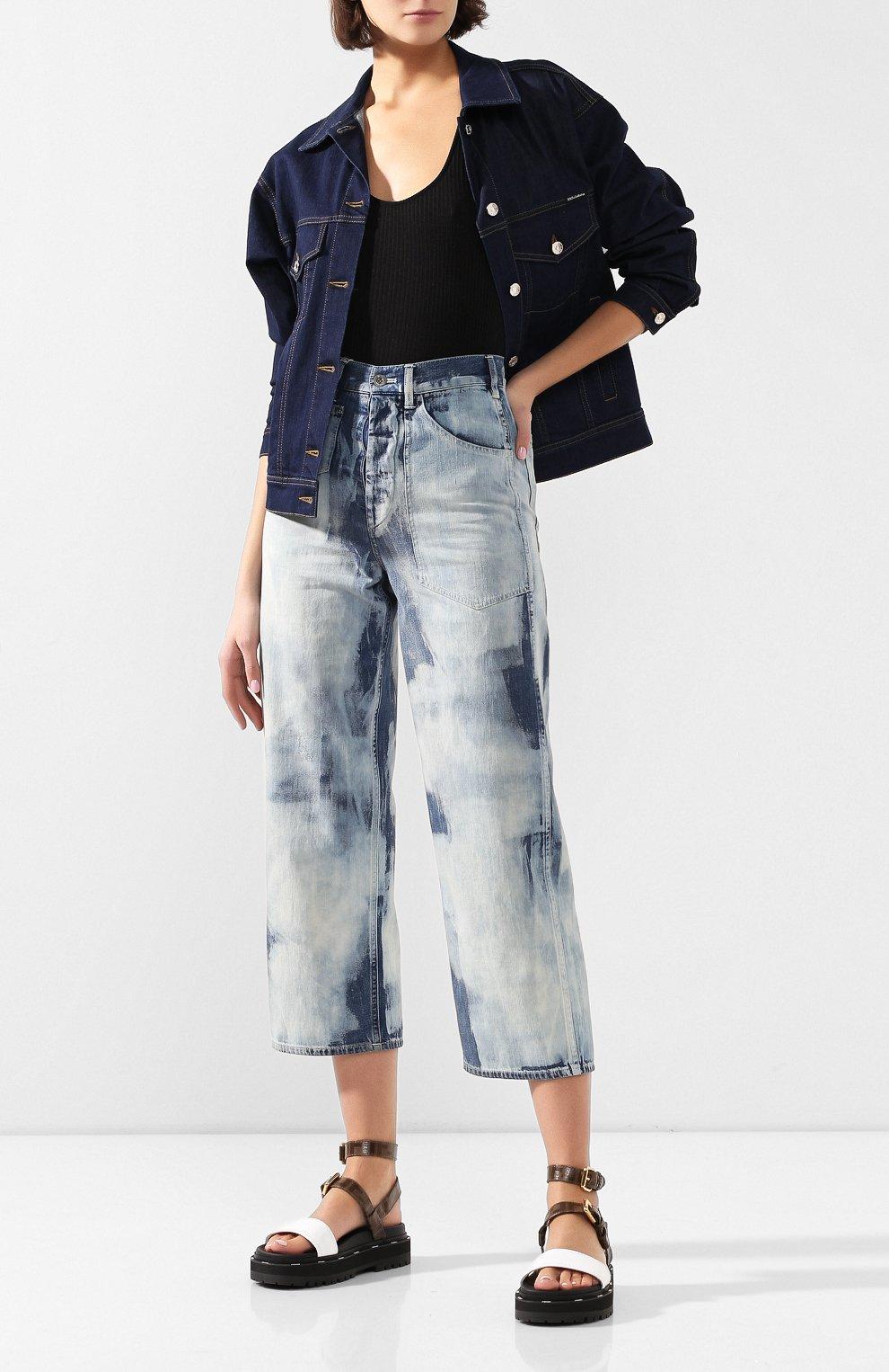 Женские джинсы RALPH LAUREN голубого цвета, арт. 290798104   Фото 2