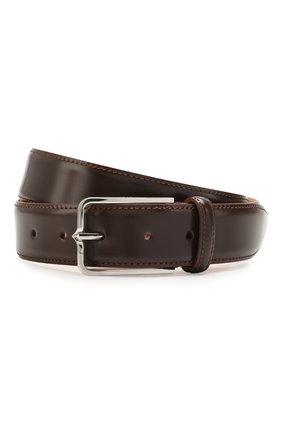 Мужской кожаный ремень CORNELIANI коричневого цвета, арт. 00V301-0020830/00 | Фото 1