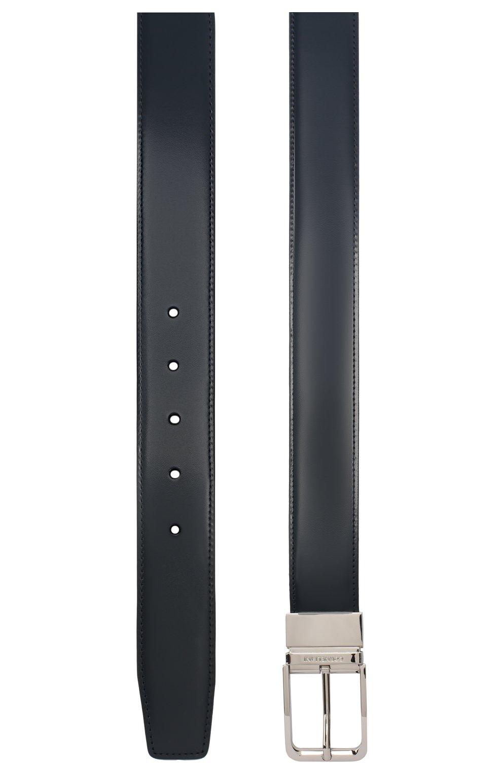 Мужской кожаный ремень CORNELIANI темно-синего цвета, арт. 00V305-0020849/00 | Фото 2 (Случай: Формальный)